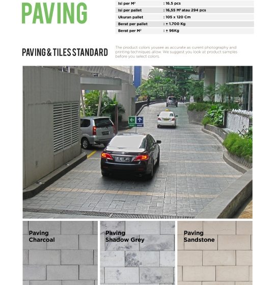 Paving / Tiles Standar, Random & Asesoris – Product Guide
